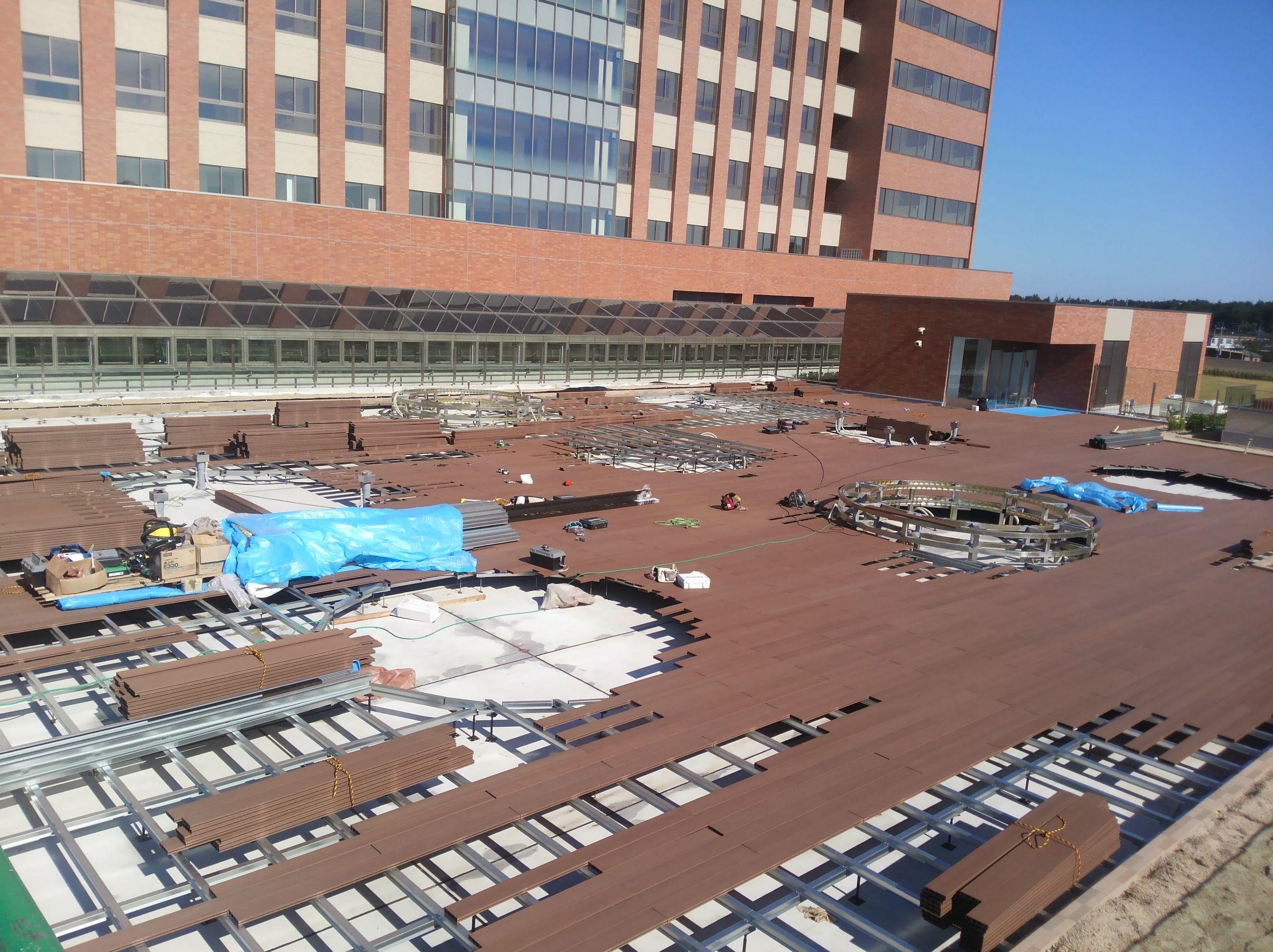 埼玉県某所 病院 ウッドデッキ工事